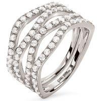 Ladies Folli Follie Sterling Silver Fashionably Silver Ring Size N.5 5045.6635