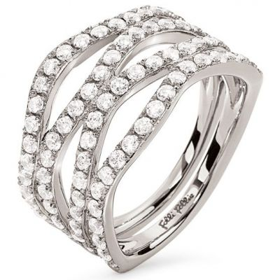 Bijoux Femme Folli Follie Fashionably Silver Bague Size P 5045.6636