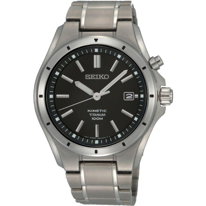 Mens Seiko Titanium Kinetic Watch