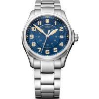 Herren Victorinox Schweizer Militär Infantry Blau Dial S/S Armband Uhren