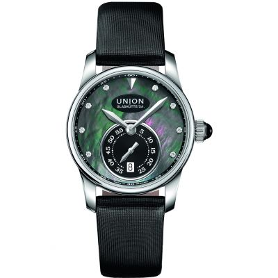 Ladies Union Glashuette Seris small second Automatic Diamond Watch D0042281712600