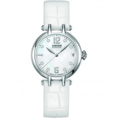 Ladies Union Glashuette Sirona Date Automatic Diamond Watch D0062071611600