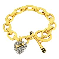Ladies Juicy Couture Gold Plated Pave Starter Bracelet