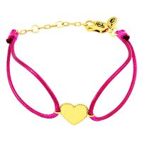 Ladies Juicy Couture Gold Plated Heart Cord Bracelet