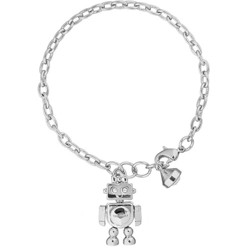 Ladies Ted Baker Silver Plated Beta Robot Bracelet Tbj1489 01 03 by Watchshop