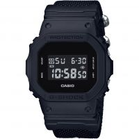 Herren Casio G-Shock Blackout Cloth Series Alarm Chronograph Watch DW-5600BBN-1ER