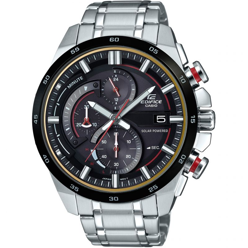 Mens Casio Edifice 3D Dial Chronograph Solar Powered Watch