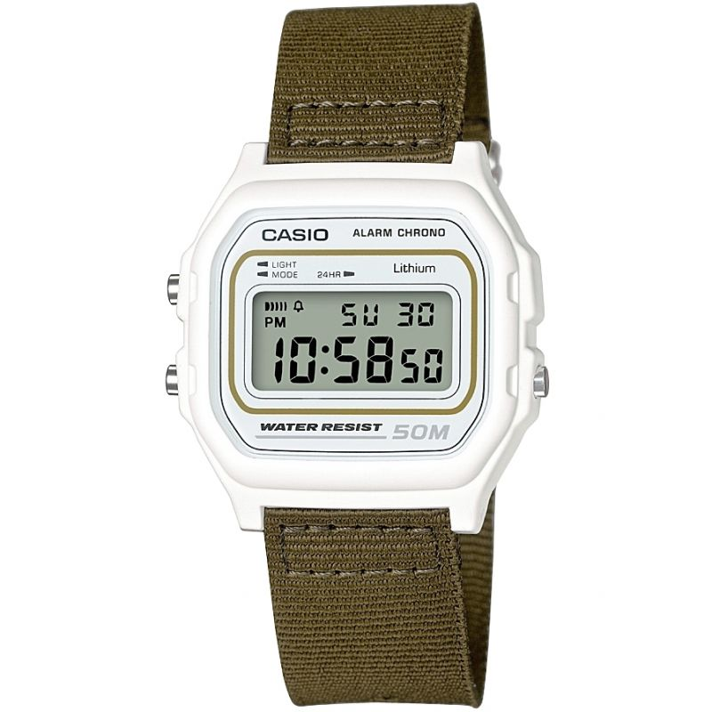 Casio Classic Collection Cloth Unisexkronograf Khaki W-59B-3AVEF