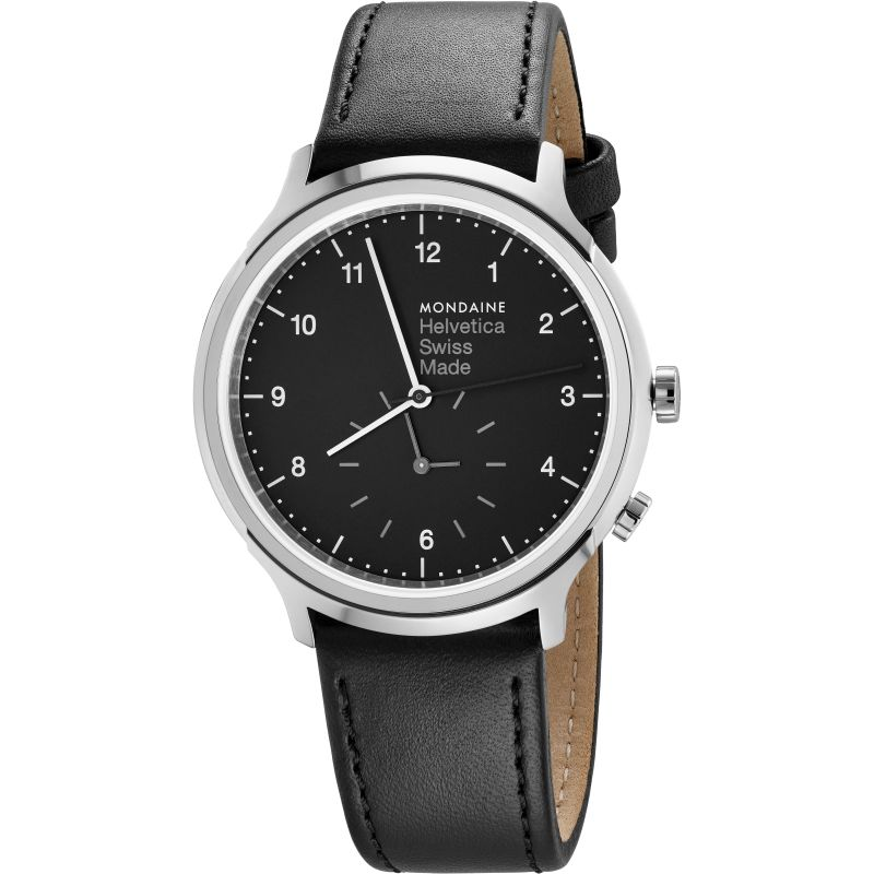 Unisex Mondaine Helvetica Regular 2nd Time Zone Watch
