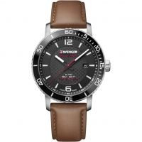 Wenger Roadster Black Night Herenhorloge Bruin 011841105