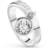 Guess Dam Hoops I Did It Again Ring Size N Silverpläterad UBR84022-54