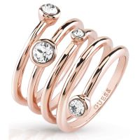 Guess Dames Crystal Beauty Ring Size N PVD verguld Rose UBR84057-54