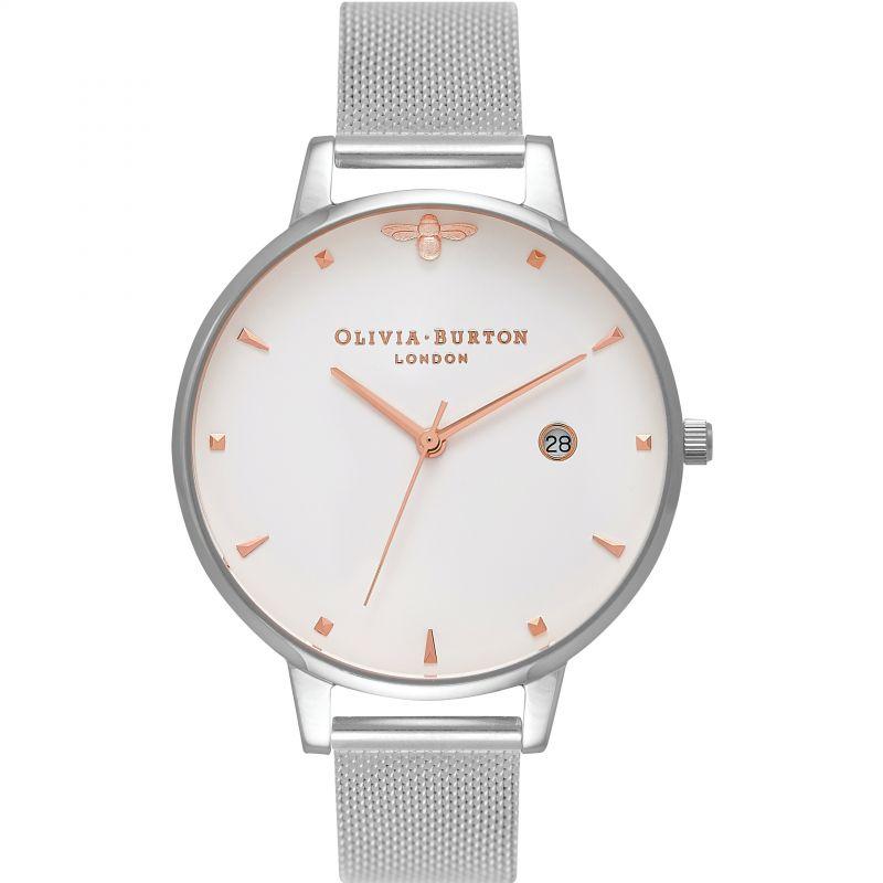 Animal Motif Rose Gold & Silver Watch