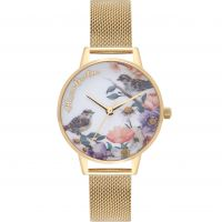 Ladies Olivia Burton English Garden Gold Mesh Watch