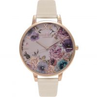 Ladies Olivia Burton Vegan Friendly Enchanted Garden Nude & Rose Gold Watch