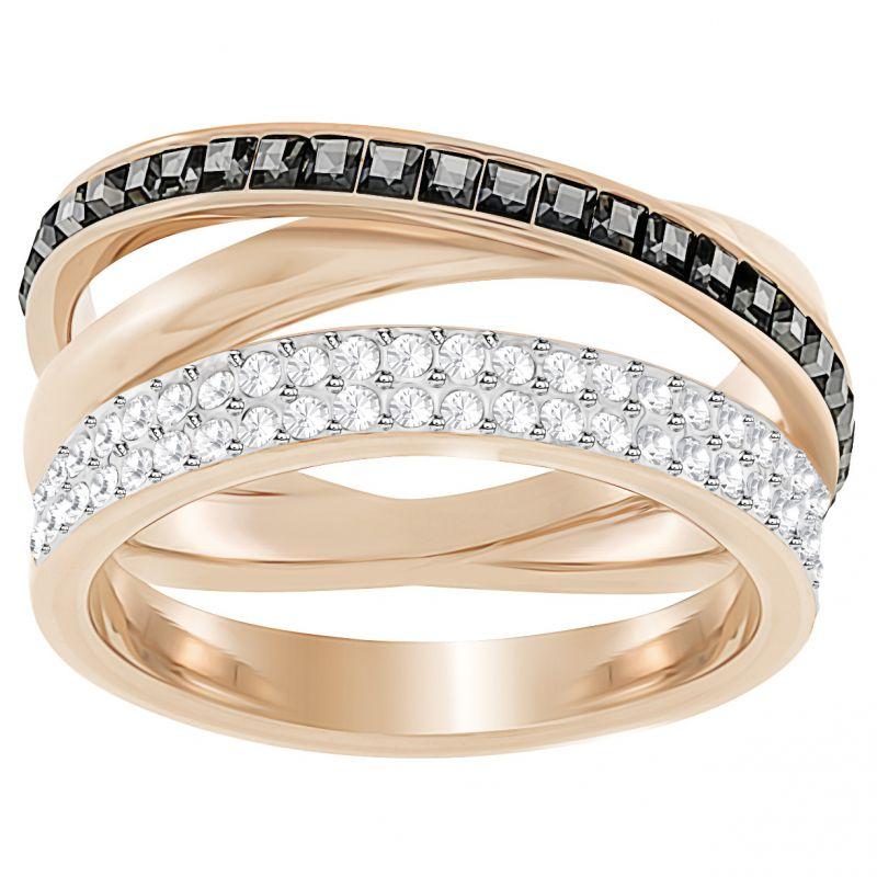 Ladies Swarovski Rose Gold Plated Hero Ring Size 52