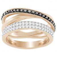 Damen Swarovski Rose vergoldet Hero Ring Größe 58
