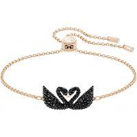 Ladies Swarovski Rose Gold Plated Iconic Swan Bracelet 5344132