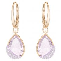Ladies Swarovski Rose Gold Plated Heap Earrings 5351136