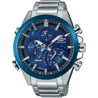 homme Casio Edifice Bluetooth Chronograph Tough Solar Watch EQB-501DB-2AER
