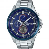 Hommes Casio Edifice Racing Bleu Série Chronographe Montre