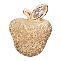 Ladies Christina Gold Plated Sterling Silver Sparkling Apple Bead Charm 623-G81