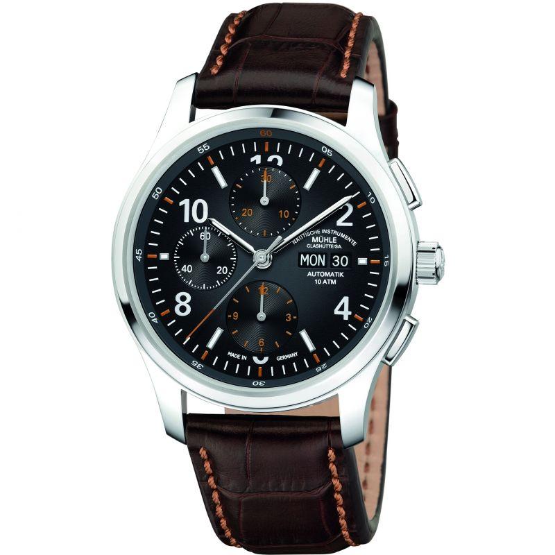 Mens Muhle Glashutte Lunova Chronograph Automatic Chronograph Watch