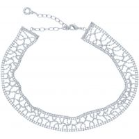 Ladies Anne Klein Silver Plated Just Shine Choker Necklace