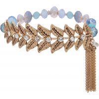 Ladies Lonna And Lilly Gold Plated Fallen Leaves Bracelet 60469063-276