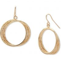 Biżuteria damska Nine West Jewellery Hoop Drop Earrings 60467942-887