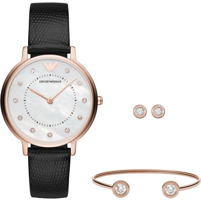 Ladies Emporio Armani Gift Set Watch