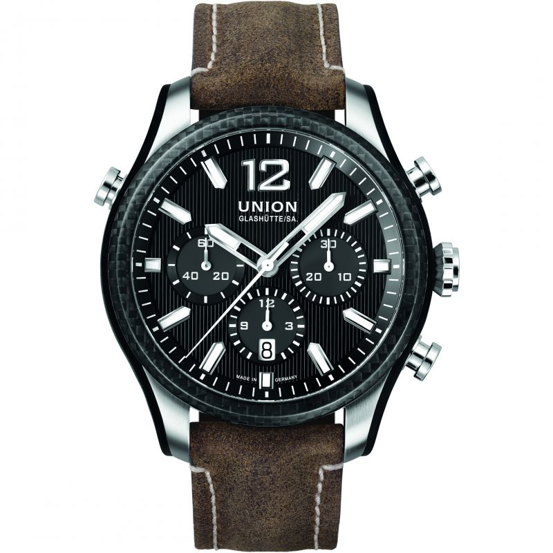 Mens Union Glashuette Belisar Sport Automatic Chronograph Watch