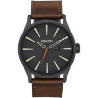 Herren Nixon The Sentry Leather Watch A105-2736