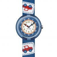 Kinder Flik Flak Camping Badge Blue Watch FBNP094