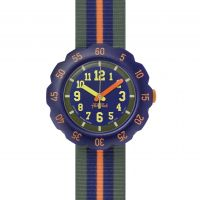 Childrens Flik Flak Orange Line Watch