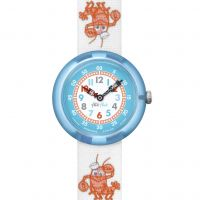 Kinder Flik Flak Lobster Stripe Watch FBNP089