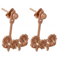 Ladies Olivia Burton Rose Gold Plated Sterling Silver Lace Detail Jacket Earrings OBJ16LDE02