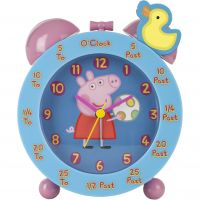 Character Peppa Pig Time Teacher Clock Kinderenhorloge Blauw PEP124