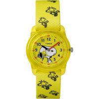 Kinder Timex Kids Analog x Peanuts Snoopy Woodstock Watch TW2R41500