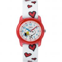 Kinder Timex Kids Analog x Peanuts Snoopy Hearts Watch TW2R41600