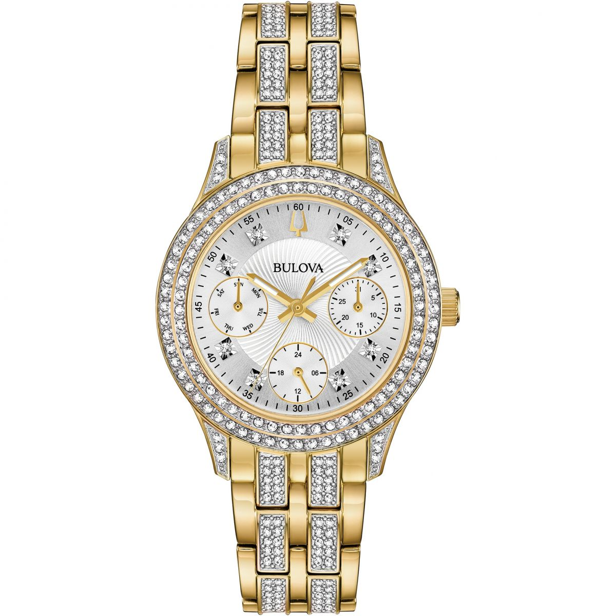 Ladies bulova crystal watch 98n112 for Crystal watches