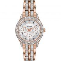 femme Bulova Crystal Watch 98N113