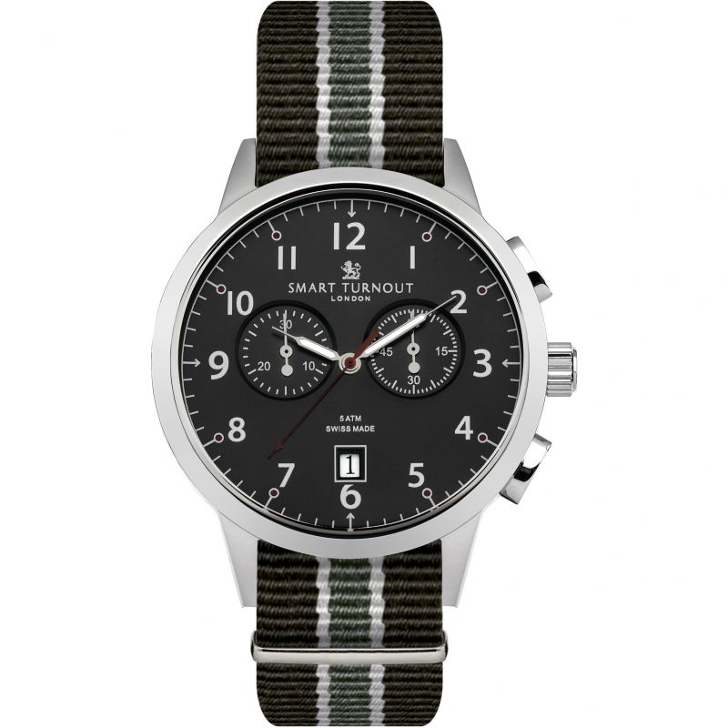 Mens Smart Turnout Classic Watch South Wales Borderers Strap Chronograph Watch