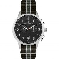 Herren Smart Turnout Classic Watch South Wales Borderers Strap Chronograph Watch STI2/BK/56/WB