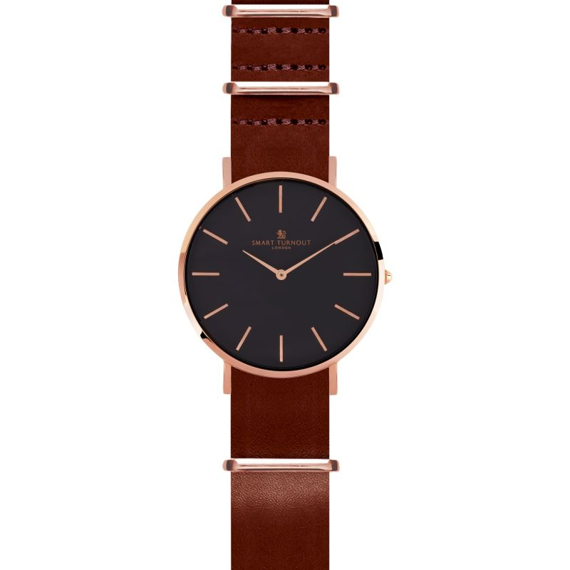Mens Smart Turnout Master Watch Oak Leather Watch