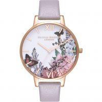 Damen Olivia Burton Winter Garten Grau Flieder & Rose Gold Uhren