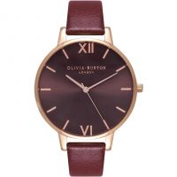 Femmes Olivia Burton Chocolat Dial Bordeaux & Rose Or Montre