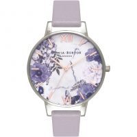 Ladies Olivia Burton Marble Florals Grey Lilac Silver & Rose Gold Watch
