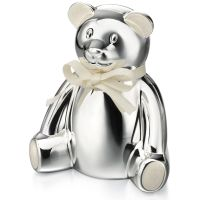 Ladies D For Diamond Silver Plated Money Box Y413