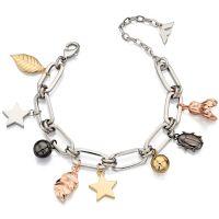 Damen Fiorelli Multi colour gold Nature Anhänger Armband